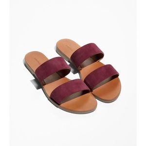 & Other Stories Two Strap Suede Sandals